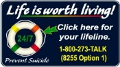 Suicide Hotline - Life is Worth Living!
